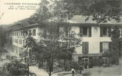 """CPA FRANCE 63 """" St Nectaire, Hôtel du Mont Cornadore""""."""