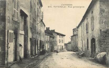 "CPA FRANCE 63 "" Viverols, Rue principale""."