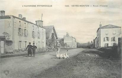 """CPA FRANCE 63 """" Veyre Monton, Route d'Issoire""""."""