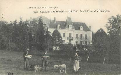 """CPA FRANCE 63 """" Usson, Le château des Granges""""."""