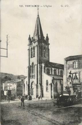 """CPA FRANCE 63 """" Vertaizon, L'église""""."""