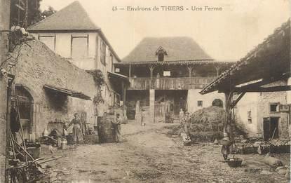 """CPA FRANCE 63 """" Environ de Thiers, Une ferme""""."""