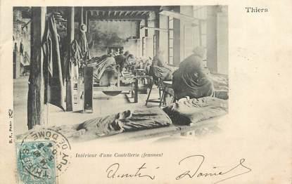 """CPA FRANCE 63 """" Thiers, Intérieur d'une coutellerie""""."""