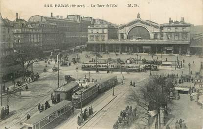 """CPA FRANCE 75 """" Paris 10ème, La gare de l'Est""""."""