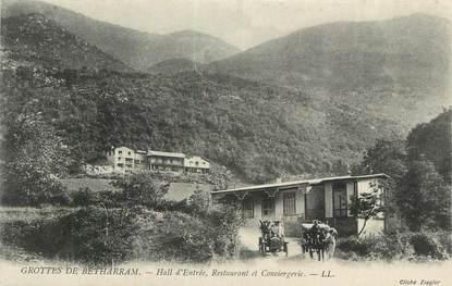 """CPA FRANCE 65 """" Grottes de Bétharram, Hall d'entrée, restaurant et conciergerie""""."""