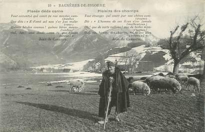 """CPA FRANCE 65 """"Bagnères de Bigorre, Un berger et son troupeau""""."""