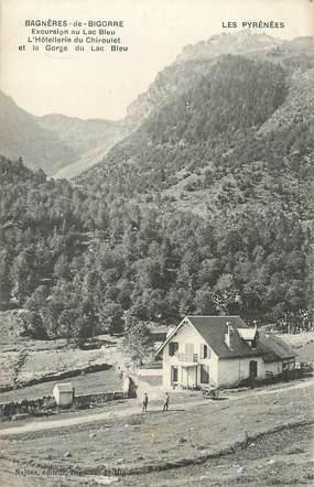 """CPA FRANCE 65 """"Bagnères de Bigorre, Excursion au Lac Bleu et la gorge du Lac Bleu""""."""