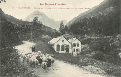 """CPA FRANCE 65 """" Cauterets, Route de Pierrefitte à l'usine électrique""""."""
