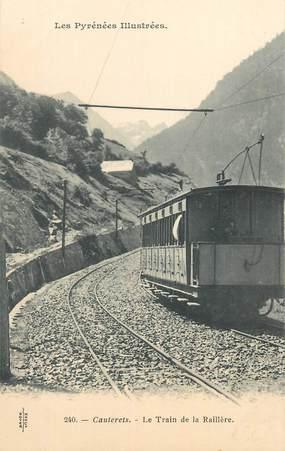 "CPA FRANCE 65 ""Cauterets, Le train de la Raillère""."