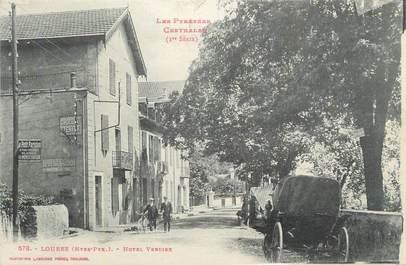 """CPA FRANCE 65 """"Loures, Hôtel Verdier""""."""