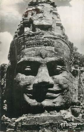 """CPSM CAMBODGE """"""""Angkor Thom"""" / FLAMME OBLITERATION AU VERSO"""