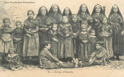 """CPA FRANCE 65 """"Groupe d'Ossalois"""". / FOLKLORE"""