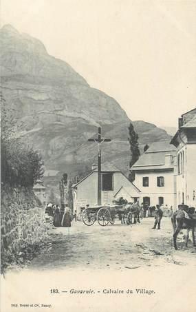 """CPA FRANCE 65 """" Gavarnie, Calvaire du village""""."""