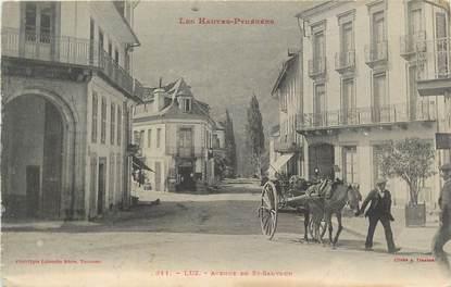 """CPA FRANCE 65 """" Luz, avenue de St Sauveur""""."""