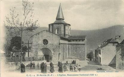 "CPA FRANCE 65 "" St Savin, L'église ""."