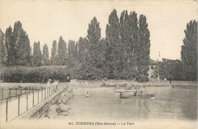 """CPA FRANCE 74 """" Tougues, Le port""""."""