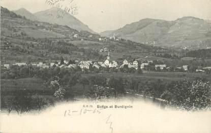 """CPA FRANCE 74 """"Boëge et Burdignin""""."""