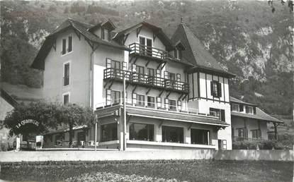 """CPSM FRANCE 74 """" Veyrier du Lac, Hôtel La Chaumière""""."""