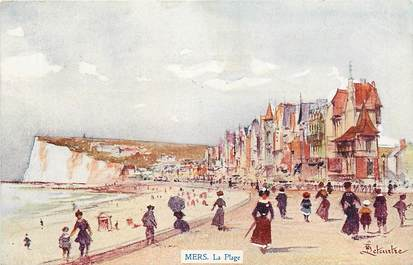 "CPA FRANCE 80 ""Mers, la plage"""