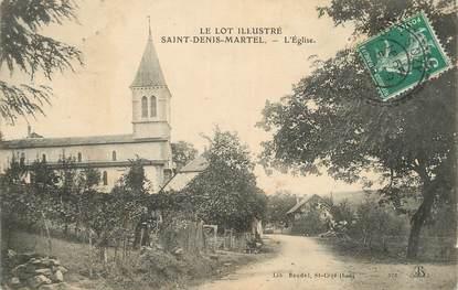 """CPA FRANCE 46 """" St Denis Martel, L'église""""."""