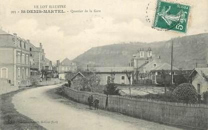 """CPA FRANCE 46 """" St Denis Martel, Quartier de la gare""""."""