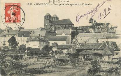 "CPA FRANCE 46 "" Gourdon, Vue générale ""."
