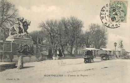 """CPA FRANCE 34 """"Montpellier, l'entrée du Peyrou"""""""