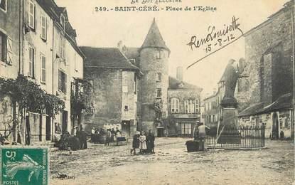 """CPA FRANCE 46 """" St Céré, Place de l'église""""."""
