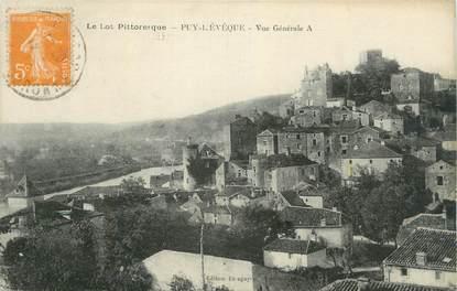 """CPA FRANCE 46 """" Puy l'Evêque, Vue générale""""."""