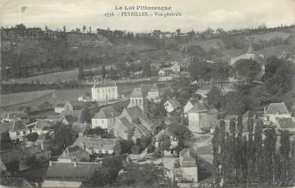 """CPA FRANCE 46 """"Peyrilles, Vue générale""""."""