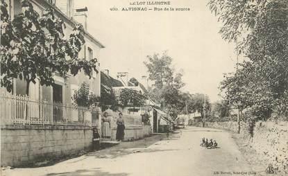 """CPA FRANCE 46 """" Alvignac, Rue de la Source""""."""