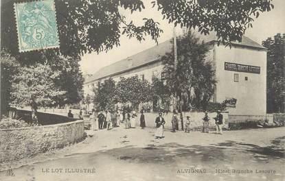 """CPA FRANCE 46 """" Alvignac, Hôtel Branche Lescure""""."""