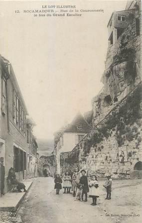 """CPA FRANCE 46 """"Rocamadour, Rue de la Couronnerie""""."""