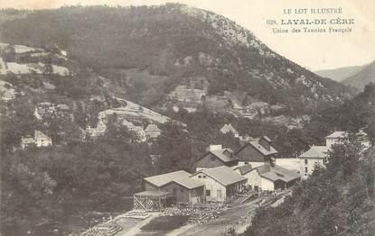 """CPA FRANCE 46 """"Laval de Cère, Usine des Tannins Français""""."""