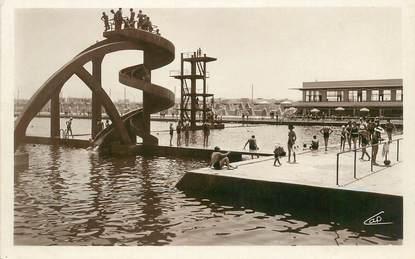 """CPSM MAROC """"Casablanca, le toboggan de la piscine"""""""