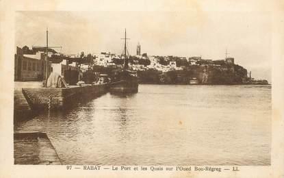 """CPA MAROC """"Rabat, le Port et les quais"""""""