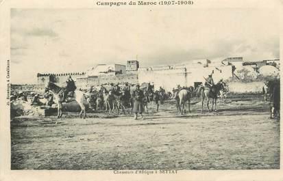 """CPA MAROC """"Chasseurs d'Afrique à Settat"""""""