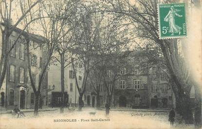 "CPA FRANCE 83 "" Brignoles, Place Sadi Carnot""."