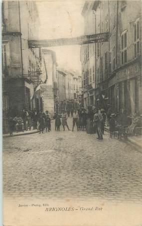 "CPA FRANCE 83 "" Brignoles, Grand Rue""."
