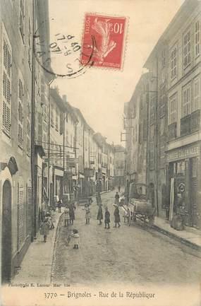 """CPA FRANCE 83 """" Brignoles, Rue de la République""""."""