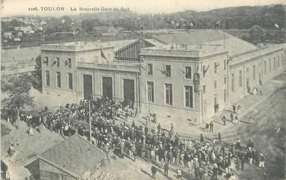 """CPA FRANCE 83 """" Toulon, La nouvelle gare du sud""""."""