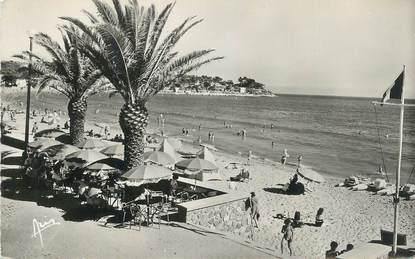 """CPSM FRANCE 83 """" Toulon, Les Sablettes, la plage""""."""