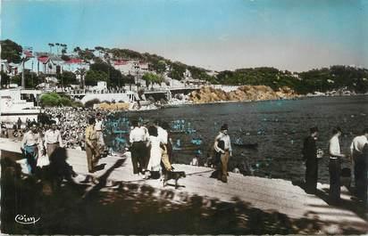 """CPSM FRANCE 83 """" Toulon, La plage du Mourillon et le Lido""""."""