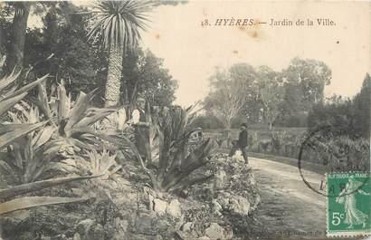 """CPA FRANCE 83 """" Hyères, Jardin de la ville""""."""