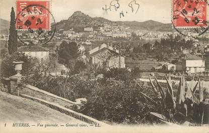 """CPA FRANCE 83 """" Hyères, Vue générale """"."""