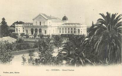 "CPA FRANCE 83 "" Hyères, Grand Casino""."