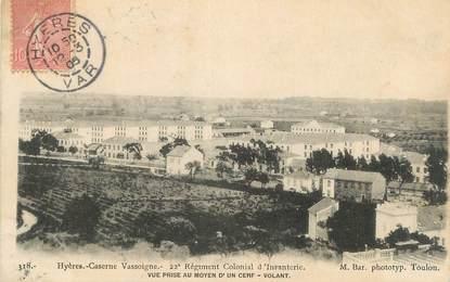 "CPA FRANCE 83 "" Hyères, Caserne Vassoigne"". / CERF VOLANT"