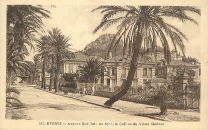 "CPA FRANCE 83 "" Hyères, Avenue Godillot""."