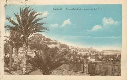 "CPA FRANCE 83 "" Hyères, Avenue Godillot et panorama""."