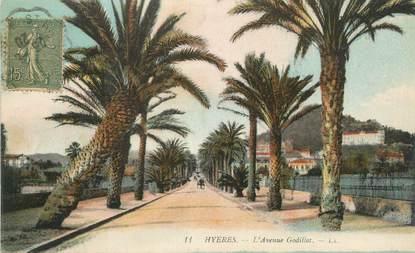 "CPA FRANCE 83 "" Hyères, L'Avenue Godillot""."